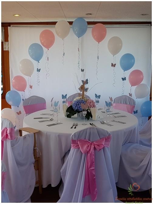 Helio balionų arka krikštynoms