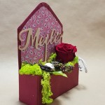 Gėlės vokelyje Valentino dienos proga