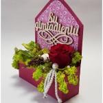 stabilizuota rožė, gimtadienio sveikinimas, gėlės į namus, gėlių pristatymas, gėlės dėžutėje, rožė dėžutėje