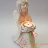 angelas žvakidė, šamotinis angelas, šamotinė žvakidė, vestuvių žvakidė, vestuvių židinys