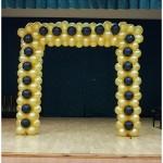Balionų sienelė, balionų arka, dekoravimas balionais