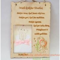 medinė dovana krikšto tėveliams, krikštynų proga, krikštynų dovanos