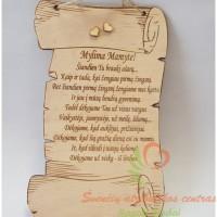 medinė dovana mamytei vestuvių proga