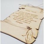 medinė dovana tėveliui vestuvių proga
