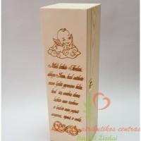 Krikštynų dovana, dėžutė vyno buteliui, suagoti ir atkimšti sulaukus pilnametystės