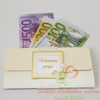 pinigų vokelis vestuvių proga