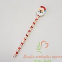 kalėdinė dovana, kalėdų suvenyras, pieštukas trintukas dovana