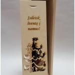 """graviruota dovana . Ant dėžutės toks tekstas: """"Įsileisk šventę į namus"""" Į dėžutę tilps Vyno butelis ir nuoširdūs sveikinimai. Dėžutės aukštis 35cm. plotis ~ 10cm. gylis ~10cm."""
