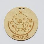 medinis medalis krikštukė