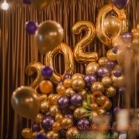 Salės dekoravimas balionais