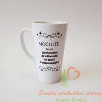 Didelis Latte kavos puodelis dovana geriausiai močiutei, krikštynų dovanos