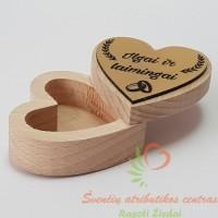širdelės formos dėžutė ilgai ir laimingai