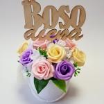 Muilo rožių kompozicija su boso diena