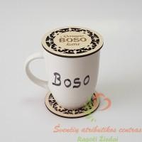 Boso kavos puodelio padėkliukas, dovana bosui boso dienos proga