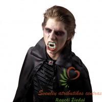 Makiažo rinkinys vampyrui, dažai, vampyro dantys, netikras kraujas