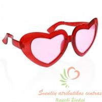 Jumbo širdelės formos akiniai