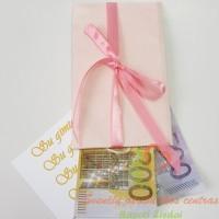 Aksominis pinigų vokelis sveikinimui, dovana pinigai, kaip dovanoti pinigus