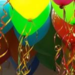 MIX spalvų led balionai
