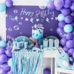 Raidžių girlianda blizgių besikeičiančių spalvų Happy Birthday