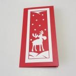 Rankų darbo Kalėdinė atvirutė su briedžiu