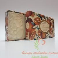 Itališkas Saponificio Artigianale Fiorentino muilas apelsinų aromato dėžutėje 3vnt. po 125g