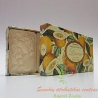 Itališkas Saponificio Artigianale Fiorentino muilas citrinų aromato dėžutėje 3vnt. po 125g