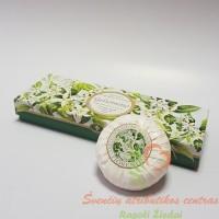 Itališkas Saponificio Artigianale Fiorentino jazminų aromato muilas dėžutėje 3vnt. po 100g
