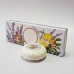 Itališkas Saponificio Artigianale Fiorentino levandos ir kedro aromato muilas dėžutėje 3vnt. po 100g
