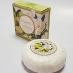 Itališkas Saponificio Artigianale Fiorentino bergamočio ir gardenijos aromato muilas dėžutėje 1vnt. 100g