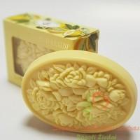 Itališkas Saponificio Artigianale Fiorentino citrinos aromato muilas dėžutėje 1vnt. 125g