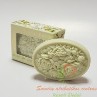 Itališkas Saponificio Artigianale Fiorentino pakalnučių aromato muilas dėžutėje 1vnt. 125g