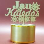 Torto dekoracija, kalėdų dovana, kalėdų atributika, kalėdiniam tortui