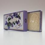 Itališkas Saponificio Artigianale Fiorentino muilas Violet dėžutėje 3vnt. po 125g