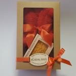 Dovanų rinkinys meškutis iš rankšluosčio su mandarinų aromato muilu