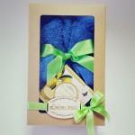 Dovanų rinkinys meškutis iš rankšluosčio su bergamočio ir gardenijos aromato muilu