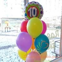Balionų puokštė 10 metų